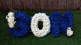 Floral funeral tributes