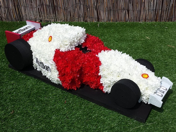 Floral funeral tributes in Harlow